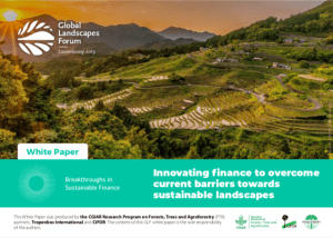 Innovating Finance to Overcome Current Barriers Towards Sustainable Landscapes – White paper