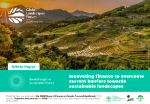Innovating Finance to Overcome Current Barriers Towards Sustainable Landscapes
