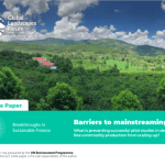 Barriers to Mainstreaming – White paper