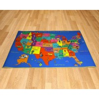 Printed Carpet - United States Map