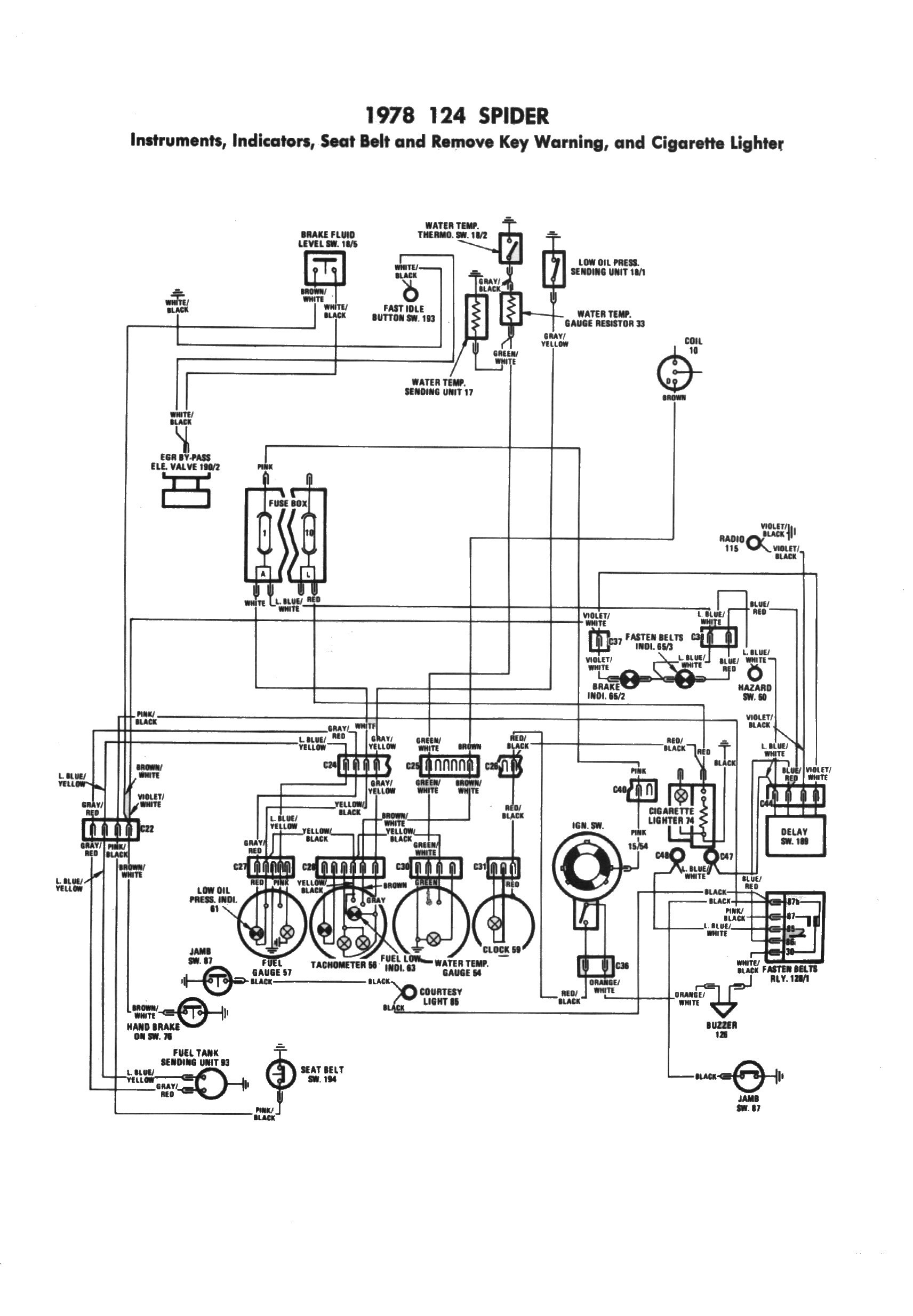 hight resolution of fiat 124 spider electrical schemes 1978 fiat carburetor diagrams