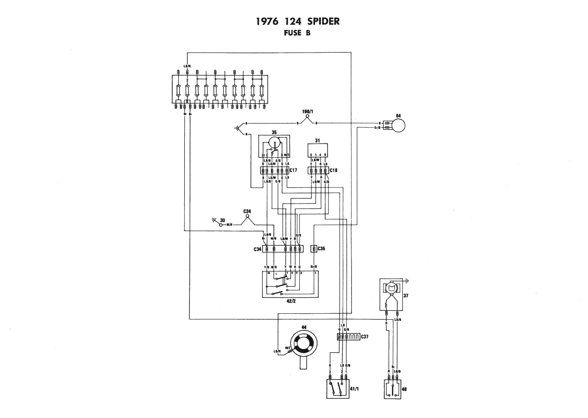 1976 Fiat 124 Spider Wiring Diagram : 35 Wiring Diagram