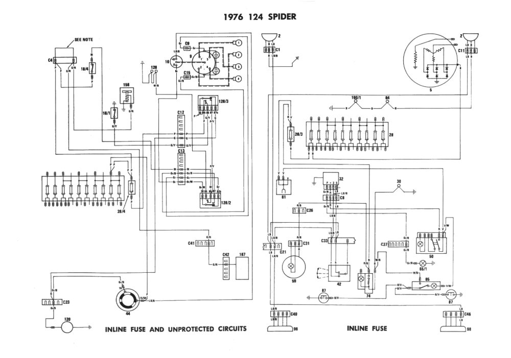 medium resolution of fiat 124 spider electrical schemes 1979 fiat 124 spider wiring diagram wiring diagram fiat 124 spider