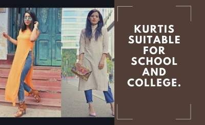 Kurtis suitable for school and college.