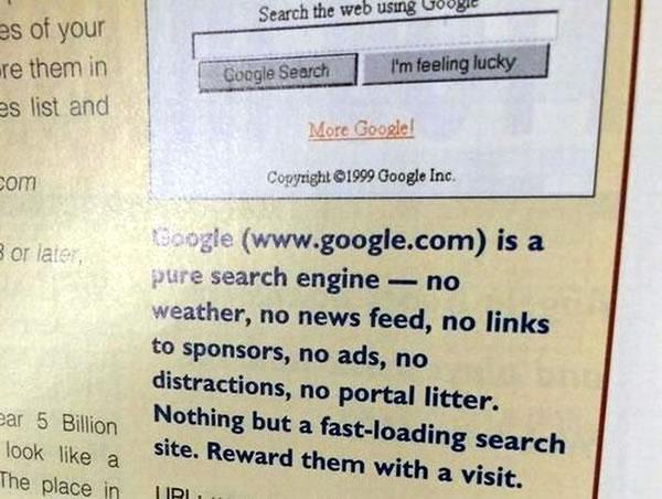 google circa 1999