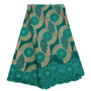African Dry Lace Fabric High Quality For Women Cotton Lace Nigerian Lace Fabric With Stones Swiss Voile Lace In Switzerland