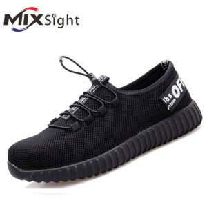 ZK20 Lightweight Safety Shoes Men Women Summer And Autumn Breathable Anti-smashing Anti-stab Steel Toe Cap Safety Work Shoes