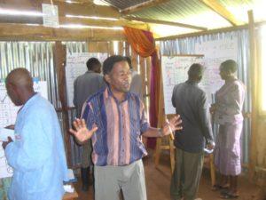 Wilson Gathungu leads a conflict transformation training exercise