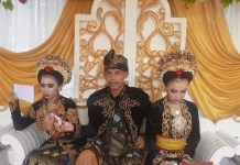 A 20-year-old student R marries two teenage girls within a month in West Lombok, West Nusa Tenggara province, Indonesia