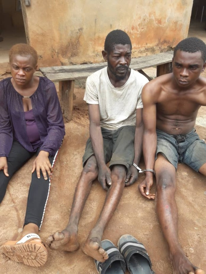 A 9 Month Pregnant Woman Juwon Akanbieme Who Led A Robbery Gang Arrested In Edo
