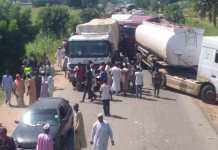 Angry Tanker Drivers In Adamawa Shutdown Yola To Jalingo Highway Over Police Brutality