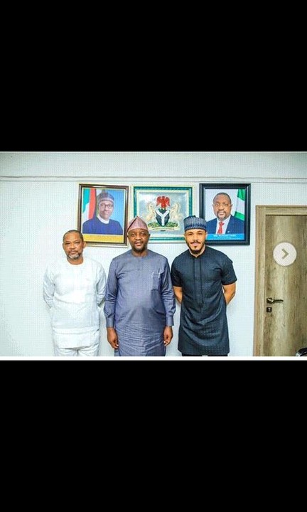 Big Brother Naija star Ozo Meets With The Sports Minister Sunday Dare