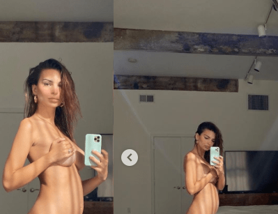 Complete nude photo of Pregnant Emily Ratajkowski