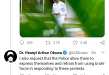 Delta State Governor Ifeanyi Okowa Tells Police To Allow People To Express Themselves