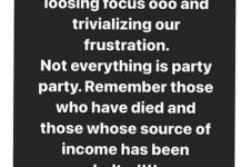 Ex bbnaija And Actress Bisola Aiyeola Tells EndSARS Protesters-Don't Turn #EndSARS Protests To Carnivals And Party
