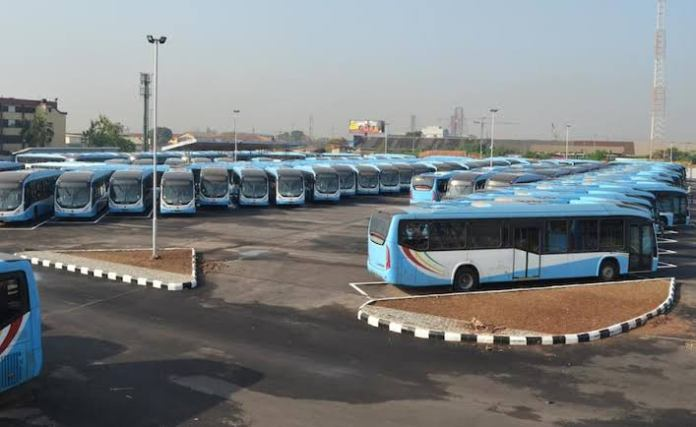 Lagos State BRT Buses In Oyinbo Reportedly Set On Fire