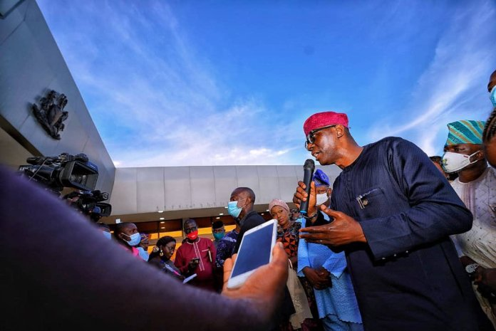 Lagos State Governor Sanwo Olu Identify With Endsars Campaign