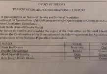 List Of Names Of National Population Commissioners-Nominees Confirmed by Senate
