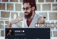 Nigerian Rapper Phyno To Lead ENDSARS Protest In Enugu Tomorrow