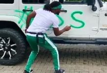 Nigerian singer and song writer Paul Okoye Writes EndSARS On His Jeep Wrangler-video