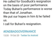 Nollywood actor Yul Edochie calling for President Buhari's resignation