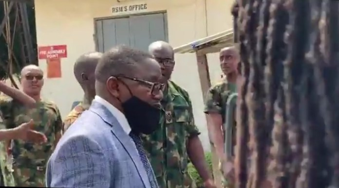 Soldiers Manning The Gate At The Military Hospital In Ikoyi Stops Lagos Judicial Panel From Accessing Military Mortuary