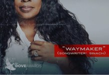 The Song Of The Year At The 51st Dove Awards 2020-Way Maker By Sinach