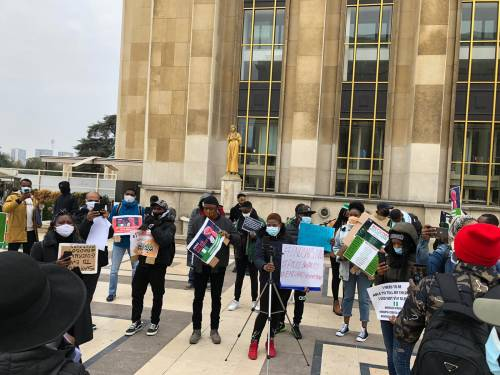 Two popular Nigerian musicians in France Negoboi and C Mi joins EndSARS protest in France