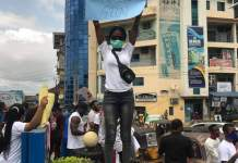 Video And Photos Of ENDSARS Protest In Onitsha