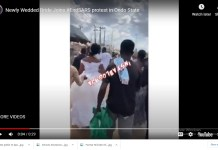 Video Of A Newly Wedded Bride Joins endsars Protest In Ondo State