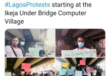 Video Of End SARS Protest In Lagos Today