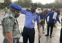 Video Of EndSARS Protesters at the entrance of the National Assembly in Abuja