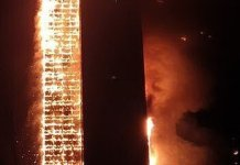 Video Of Fire Engulfing Entire 33-Storey Apartment Block In South Korea