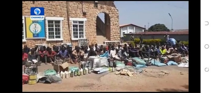 Video Of Looters Arrested By Soldiers In Jos