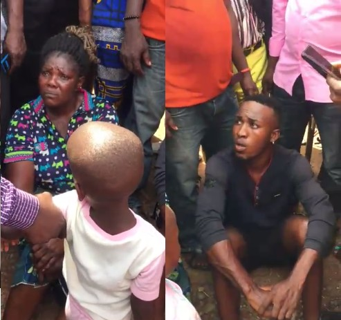 Video Of Man And Woman Confessing To Kidnapping And Selling Of A Child In Anambra State
