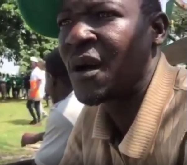 Video Of Pro SARS supporter caught on tape admitting he was hired to disrupt peaceful protests in Abuja