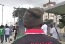 Video Of Security Officer Who Joined EndSARS Protest In Lagos