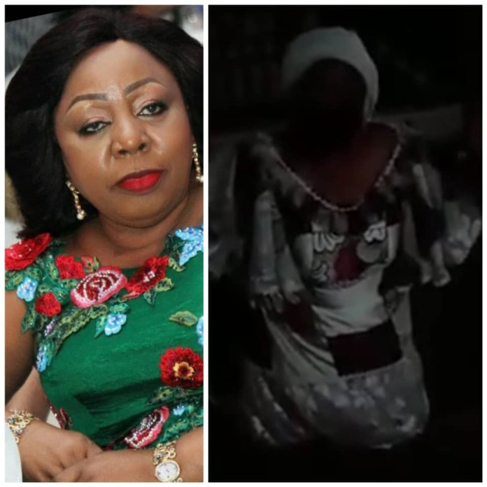 Video Of Senator Florence Ita-Giwa Kneeling And Begging Cross River State Youths