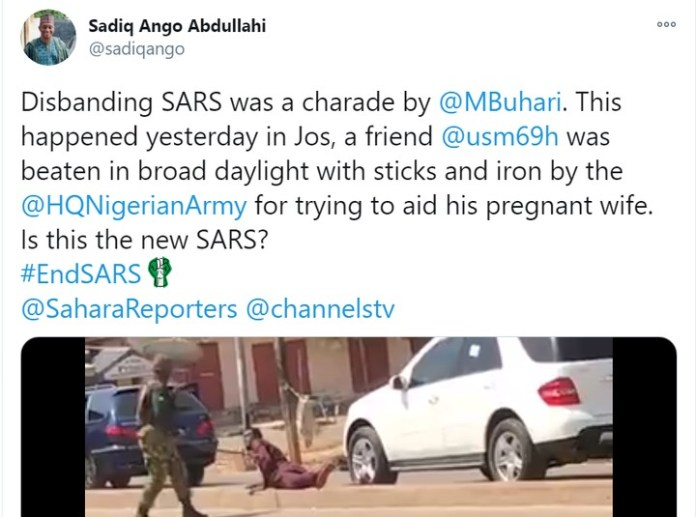 Video Of Soldiers Flogging A Man In Jos