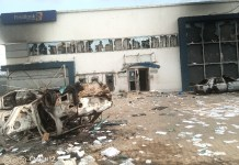 Video Of The Present Condition Of First Bank Faulks Road Aba After Being Destroyed By Angry Youths
