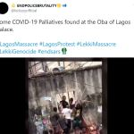 Video Of Thugs Sharing COVID-19 Palliatives Found At The Oba Of Lagos Palace