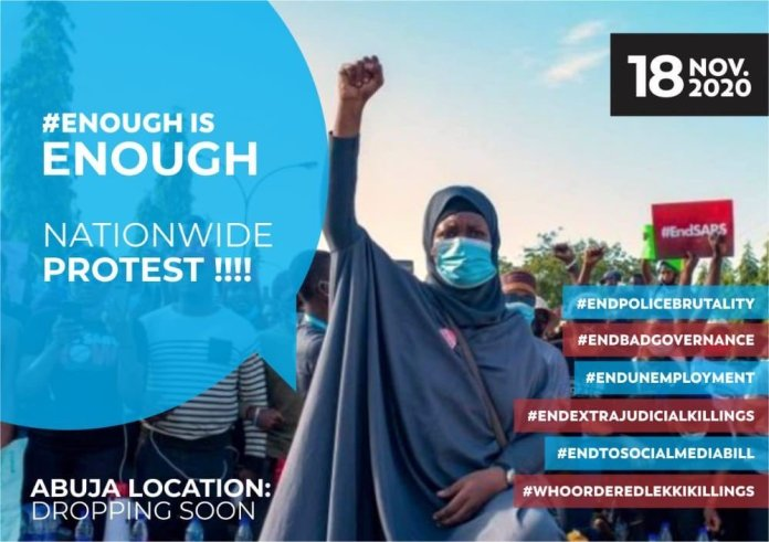 2nd Wave Of EndSARS Protest To Kick Off On November 18th 2020