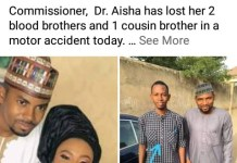 3 Brothers To Gombe State Commissioner Aishatu Umar Maigari Die In Motor Accident In Gombe