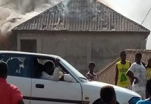 Angry youths of Daudu community in Guma Local Government Area of Benue State sets Divine Shadow Church Benue ablaze Over Missing Manhoods