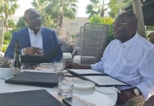 Dino Melaye Shares Photo Of Lunch With Atiku Abubakar