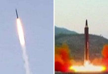 Intercontinental Ballistic Missile ICBM Shot Down In Space From A Warship By United States