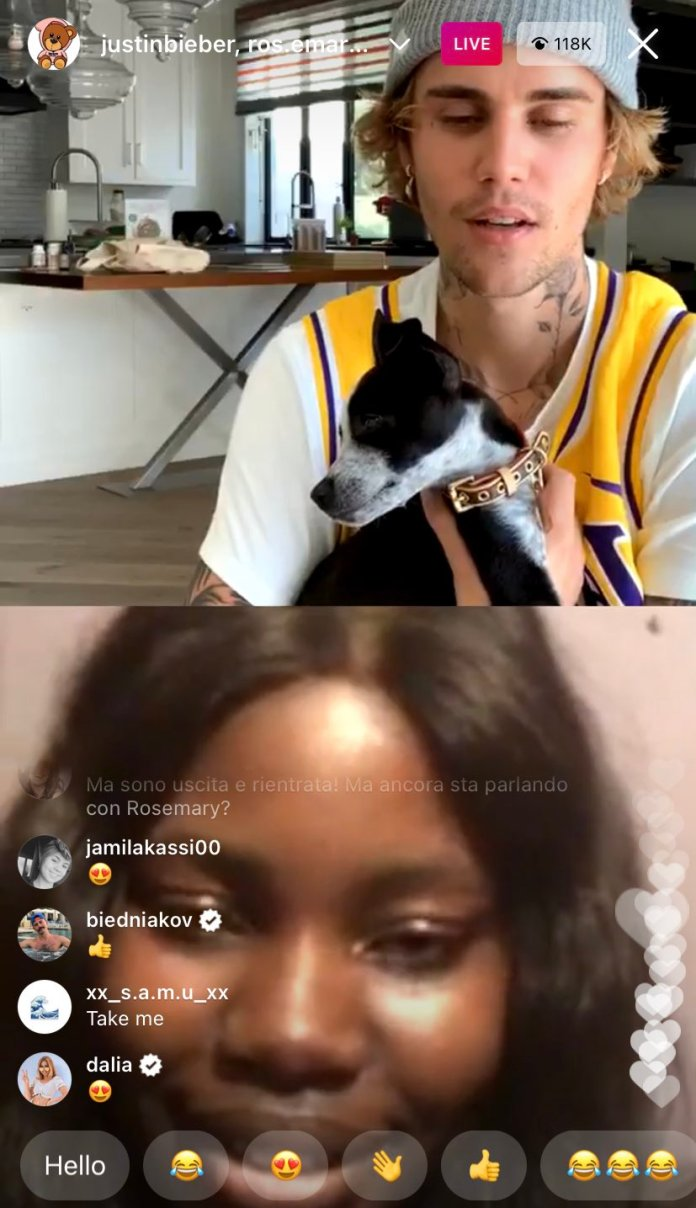 Nigerian Student And Justin Bieber In Live Video As She Cries Out Of Excitement
