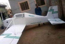 Photos Of 20 Year Old Boy Yahaya Usman Who Built An Aircraft Training Replica In Adamawa