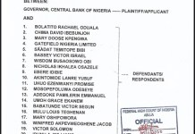 The Full List Of Endsars Promoters Whose Accounts Were Blocked By CBN