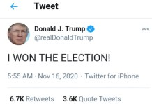 US President Donald Trump - I Won The Presidential Election